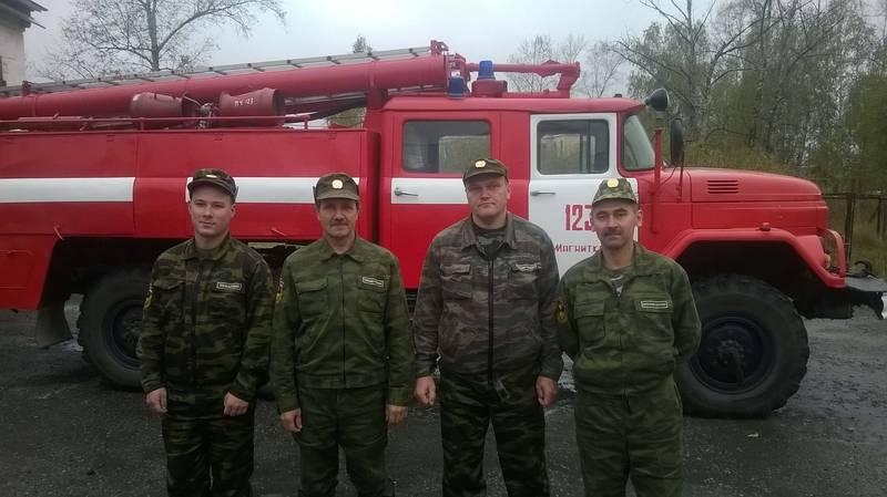 Пожарные ПЧ № 123 - поселок Магнитка