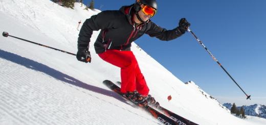 Man Skiing at Alta