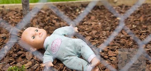 Lost doll in playground