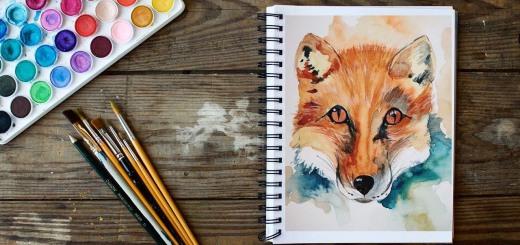 рисую лису